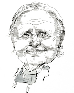 Doris Lessing cartoon