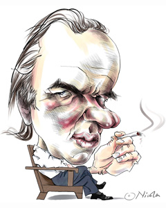 Martin Amis cartoon