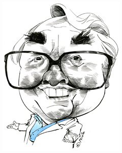 Ronnie Corbett cartoon