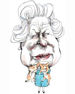 The Queen cartoon